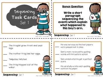 Sequencing Task Cards