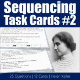 Sequencing Task Cards #2 - Helen Keller