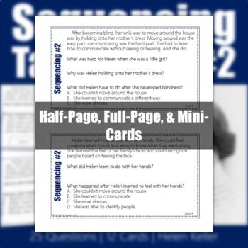 Sequencing Task Cards #2 - Helen Keller