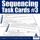 Sequencing Task Cards #3 - Mary Kay Ash (STAAR)
