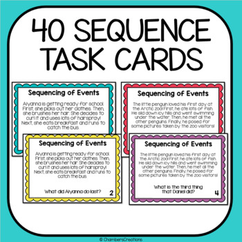 Sequence of Events ELA Task Cards