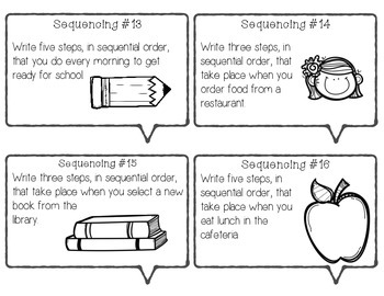 Sequencing Task Cards - Aligned to TEKS