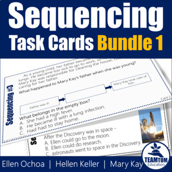 Sequencing Task Cards Bundle 1 (Biographies)