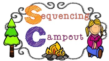 Sequencing Task Cards - Camping Theme