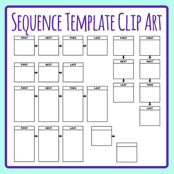 Sequencing Template - First, Next, Then, Last Clip Art Set by ...