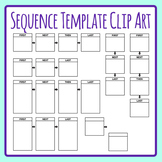 Sequencing Template - First, Next, Then, Last Clip Art Set