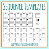 Sequencing Templates for Stories, Planning,  Procedures etc Clip Art Commercial