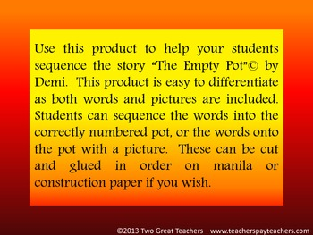 """Sequencing  """"The Empty Pot"""" by Demi"""
