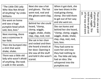 """Sequencing """"The Little Old Lady Who Wasn't Afraid of Anything"""""""