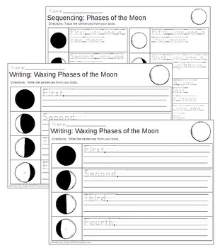 Sequencing: The Phases of the Moon (Northern and Southern Hemisphere)