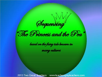 """Sequencing """"The Princess and the Pea"""""""