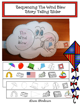 Sequencing The Wind Blew Storytelling Slider Craftivity