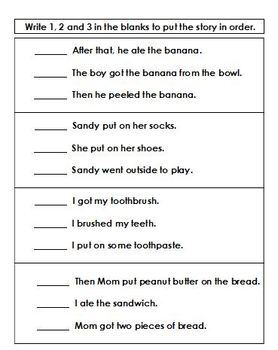 Sequencing Three-Step Stories (Autism, ABA, Special Ed)