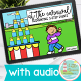 Sequencing Three-Step Events | Carnival Boom Cards™ WITH AUDIO