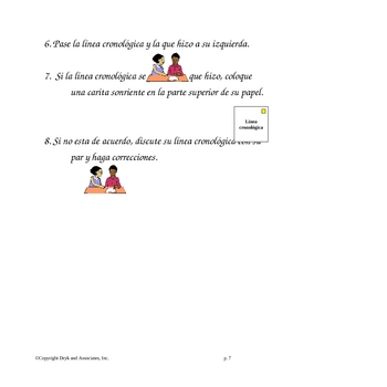 Sequencing:  Time Line (English and Spanish)