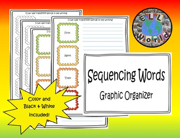Sequencing/Transition Words Graphic Organizer