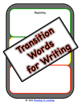 Sequencing Transition Words for Writing: Graphic Organizer