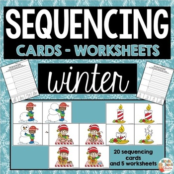Sequencing - Winter cards and worksheets