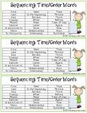 Sequencing Words Handout