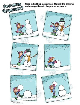 picture about Build a Snowman Printable identified as Sequencing Worksheet - Develop a Snowman Collection Match
