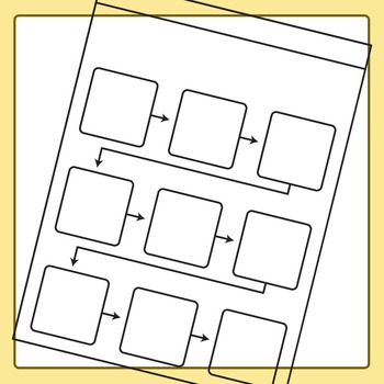 Sequencing Worksheet Templates / Layouts Clip Art Set for Commercial Use