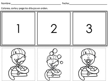 Sequencing Worksheets In Spanish by Bilingual Classroom Resources