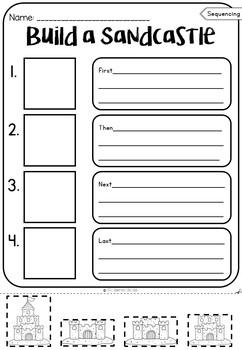 Sequencing Worksheets - Summer