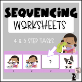 Sequencing Worksheets  - Visual Sequences with Pictures - 4 & 5 Step Sequencing