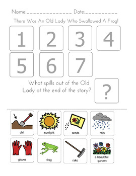 """""""There was an Old Lady Who Swallowed"""" Sequencing Worksheets Bundle"""