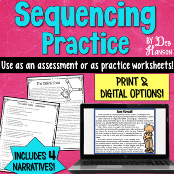 Sequencing Worksheets With Reading Comprehension Passages By Deb Hanson