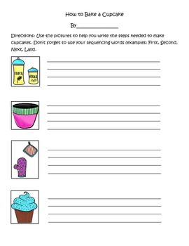 Sequencing Writing Activity with Picture Prompts