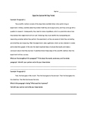 Sequencing Writing Assignment: The Digestive System