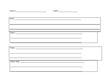 Sequencing Writing Graphic Organizer