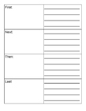 Sequencing/Writing Graphic Organizer