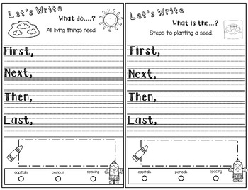 Sequencing Writing Journal:  Kindergarten Freebie