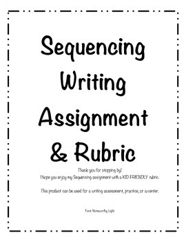 Sequencing Writing with Rubric