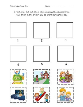 Sequencing Your Day - Cut and Glue