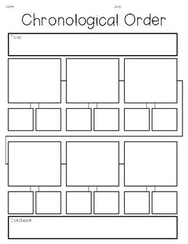 Sequencing and Chronological Order Graphic Organizers
