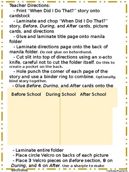 Sequencing and Literacy Comprehension Concept Game