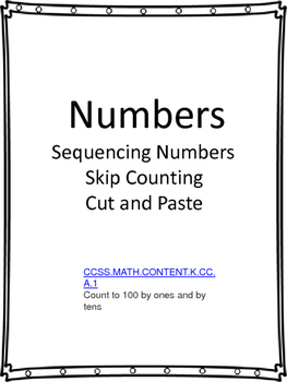 Sequencing and Skip Counting Cut and Paste