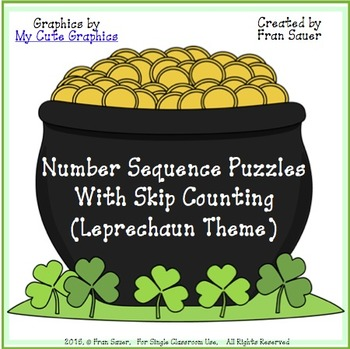 Sequencing and Skip Counting Puzzles for March/St.Patrick's Day