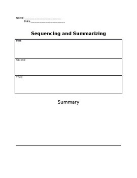 Sequencing and Summarizing