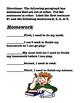 Sequencing comprehension worksheet
