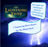 The Lightning Thief Novel Study ~ Sequencing ~ Regular & M