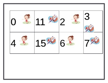 Sequencing numbers 0-20