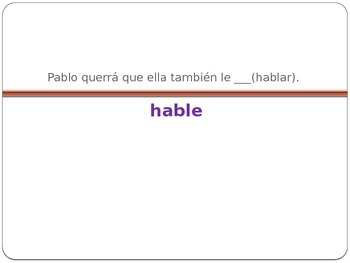 Sequencing of tenses in Spanish