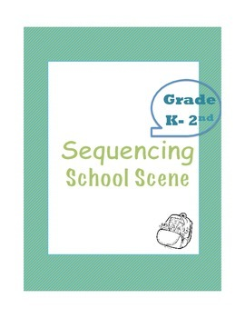 Sequencing - school scene - Gr K-2nd