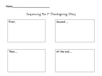 Sequencing the 1st Thanksgiving Story