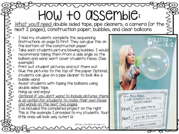 Sequencing the Steps to Blowing Bubbles