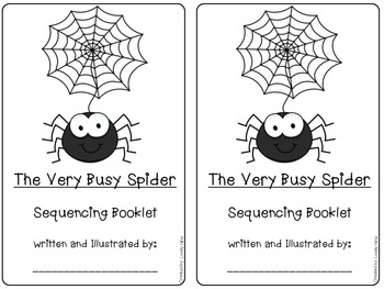 sequencing the very busy spider by eric carle by lovely nina designs